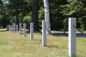 Granite post with black powder coated chain, Wilmot NH