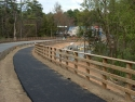Four Rail Pedestrian Timber Guardrail