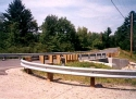 Radiused Guardrail: Available As Steep as 5 feet.